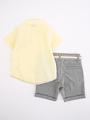 Комплект для мальчика: рубашка и шорты, цвет: лимонный