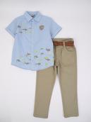 Комплект для мальчика: рубашка и брюки с ремнем