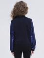 Жакет трикотажный для девочки, цвет: темно-синий