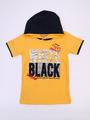 Комплект для мальчика: футболка, брюки джинсовые и жилет, цвет: желтый