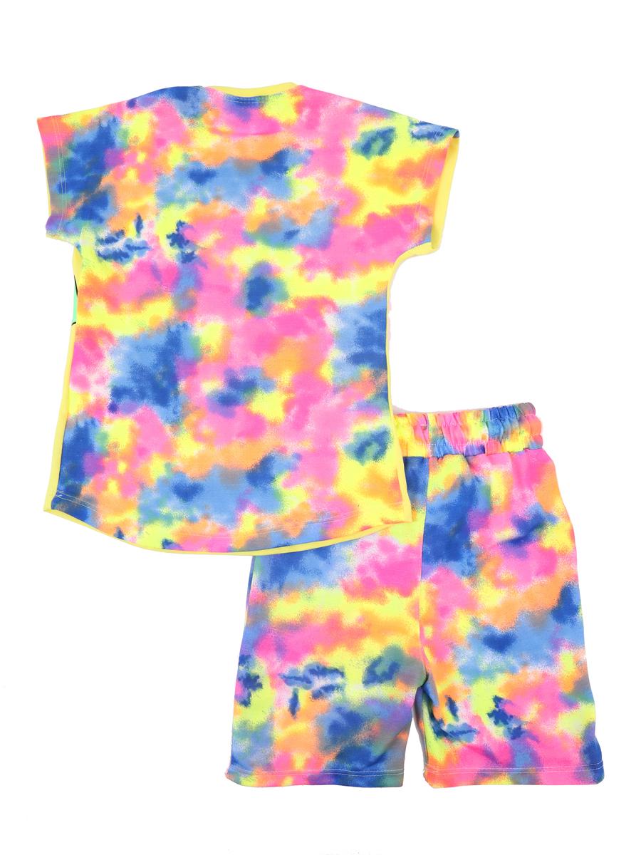 Комплект для девочки: футболка и шорты, цвет: желтый