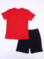 Комплект для мальчика: футболка и шорты, цвет: красный