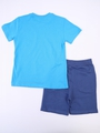Комплект для мальчика: футболка и шорты, цвет: голубой