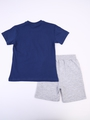 Комплект для мальчика: футболка и шорты, цвет: деним
