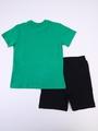 Комплект для мальчика: футболка и шорты, цвет: зеленый