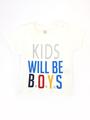 Комплект для мальчика: футболка, брюки и жилет, цвет: терракотовый