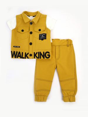 Комплект для мальчика: футболка, брюки и жилет