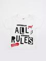 Комплект для мальчика: футболка, брюки джинсовые и жилет, цвет: деним