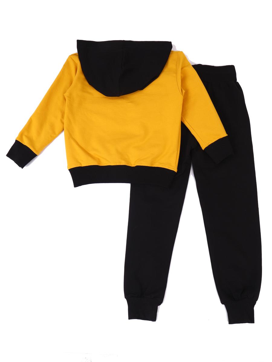 Комплект для мальчика: толстовка и брюки спортивные, цвет: горчичный