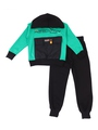Комплект для мальчика: толстовка и брюки спортивные, цвет: зеленый