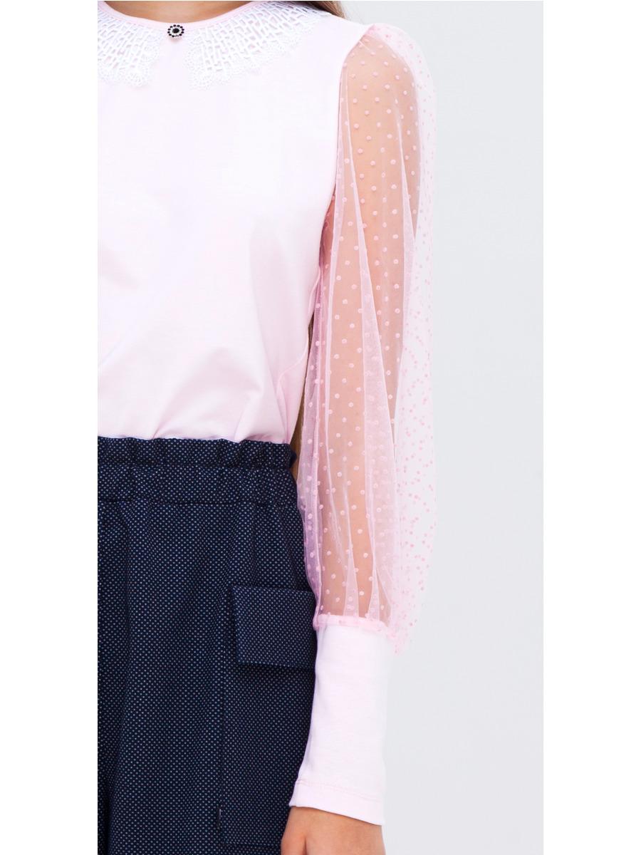 Блузка прилегающего силуэта, цвет: розовый