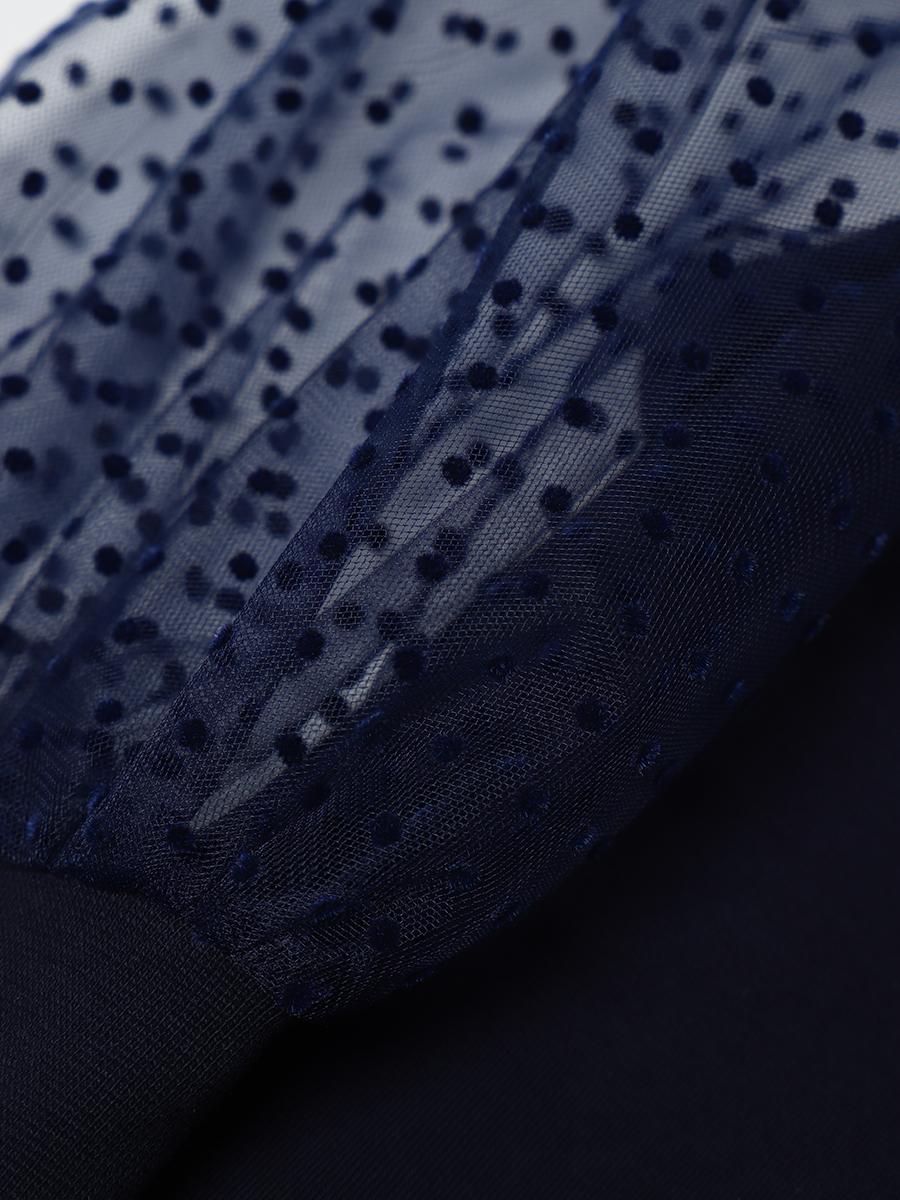 Водолазка для девочки, цвет: темно-синий