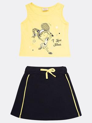 Комплект для девочки: майка и юбка