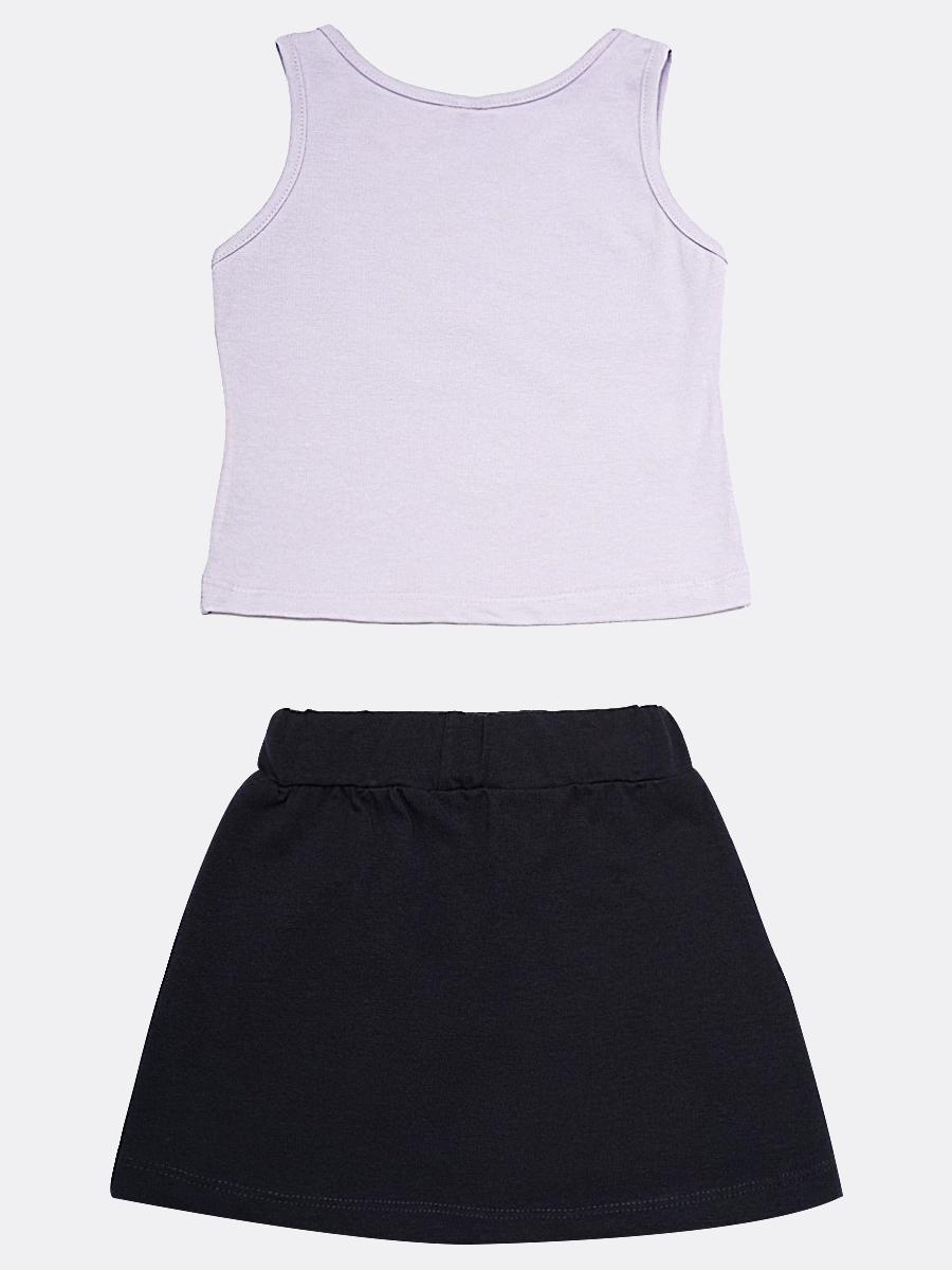 Комплект для девочки: майка и юбка, цвет: сиреневый