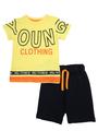 Комплект для мальчика: футболка и шорты, цвет: желтый