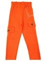 Брюки трикотажные для девочки, цвет: оранжевый