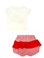 Комплект для девочки: кофточка и шорты, цвет: красный