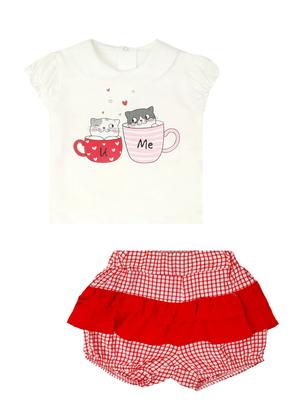 Комплект для девочки: кофточка и шорты