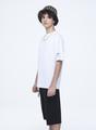 Костюм спортивный:футболка и шорты прямые со средней посадкой, цвет: белый