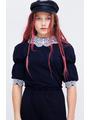 Блузка свободного силуэта, цвет: темно-синий