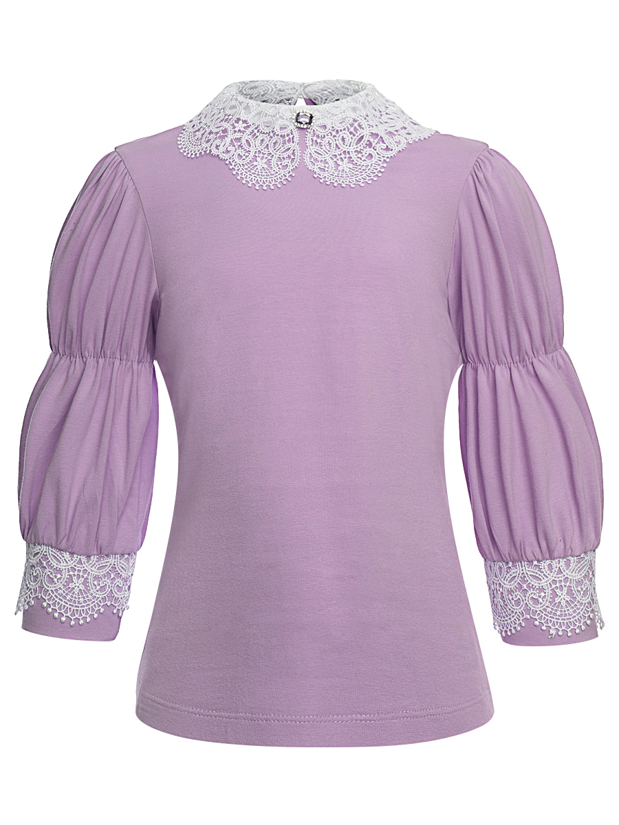 Блузка свободного силуэта, цвет: сиреневый