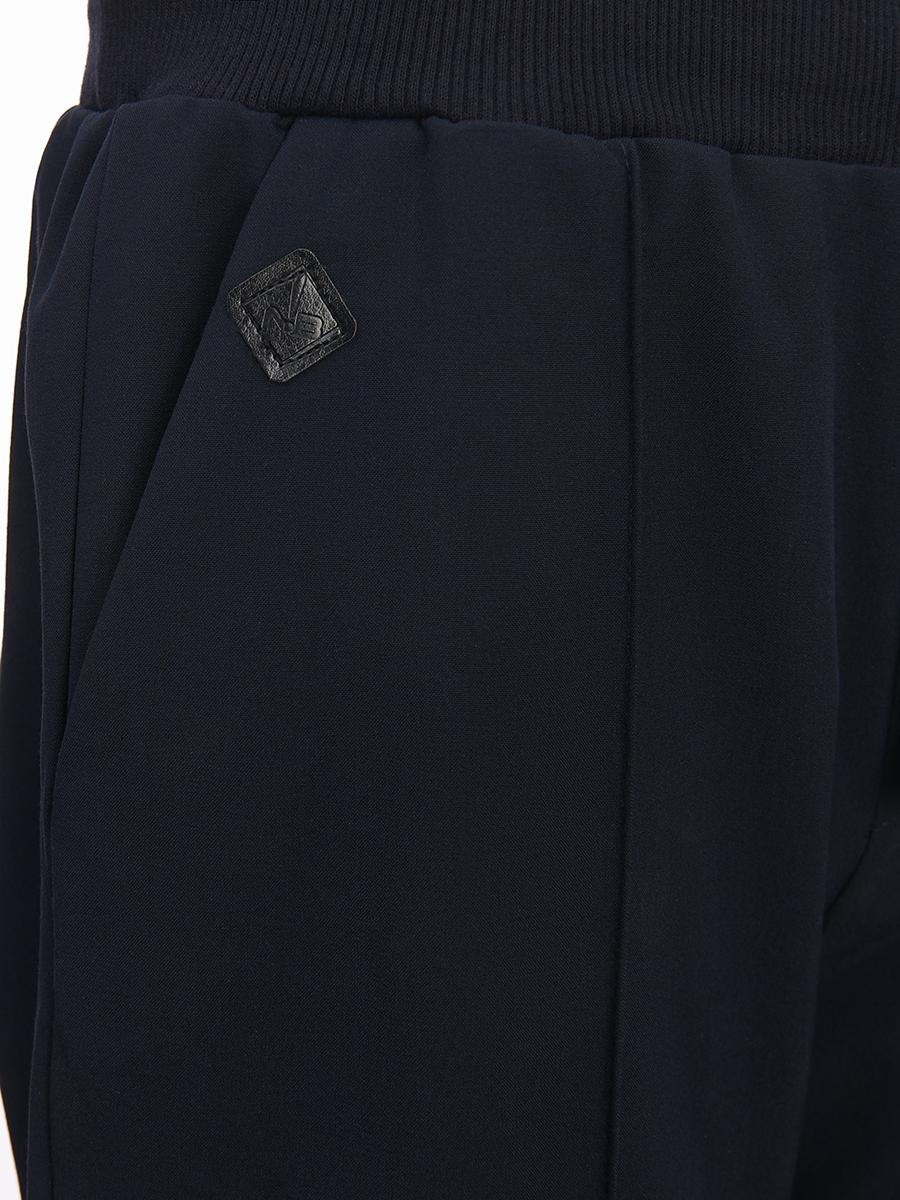 Брюки джоггеры со средней посадкой для мальчика, цвет: темно-синий