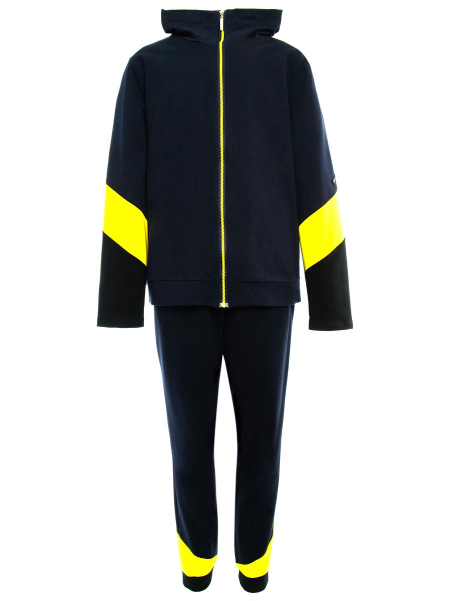Костюм спортивный: толстовка и брюки зауженные со средней посадкой, цвет: мультиколор