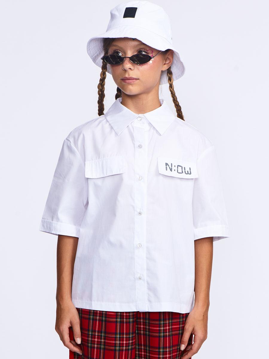 Блузка рубашечного покроя, цвет: белый