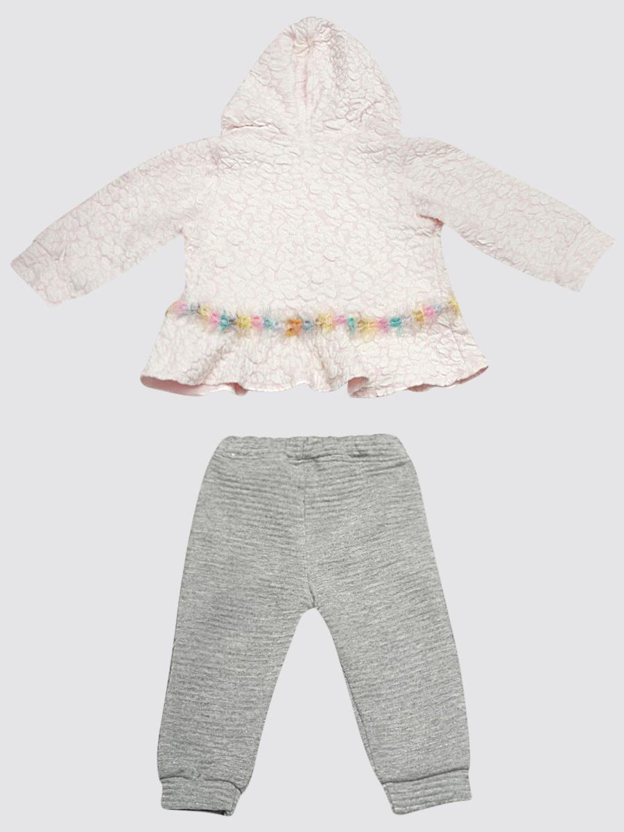 Комплект для девочки: кофточка, штанишки и жакет, цвет: светло-розовый