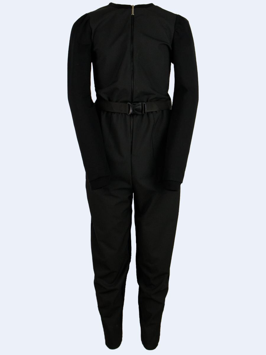 Комбинезон для девочки, цвет: черный