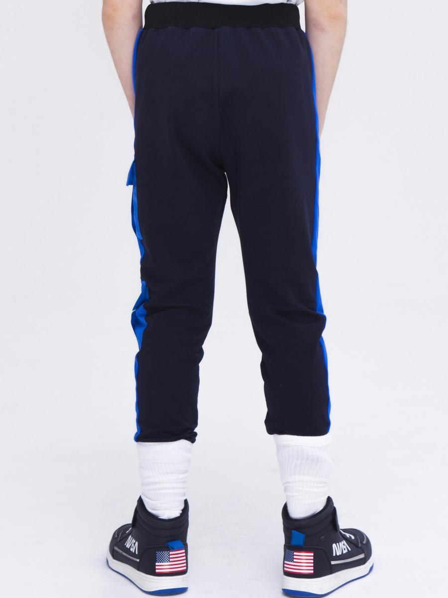 Брюки спортивные джоггеры со средней посадкой для мальчика, цвет: темно-синий