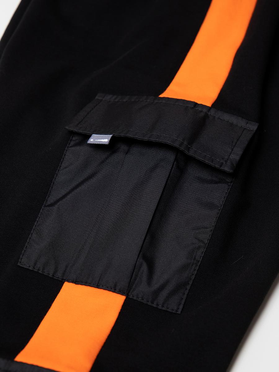 Брюки спортивные джоггеры со средней посадкой для мальчика, цвет: черный