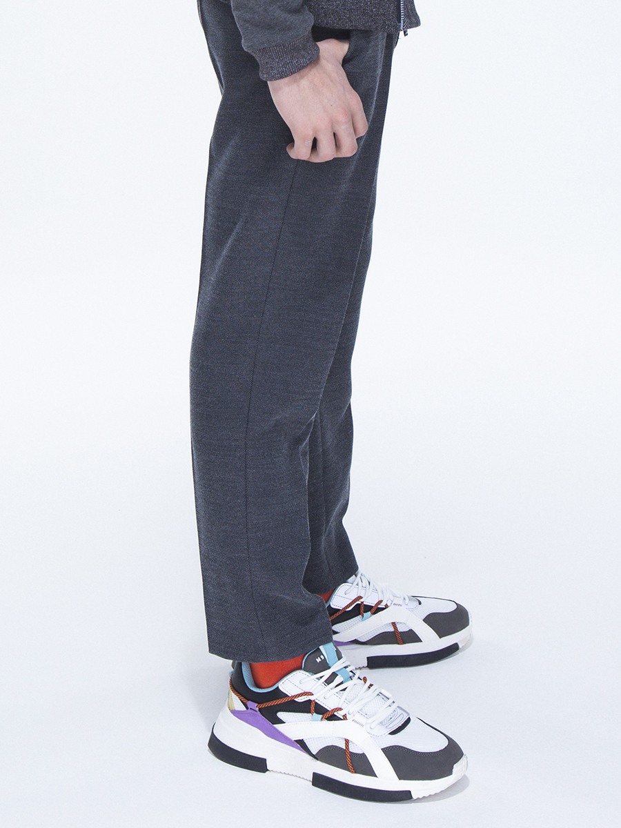 Брюки джоггеры со средней посадкой для мальчика, цвет: серый