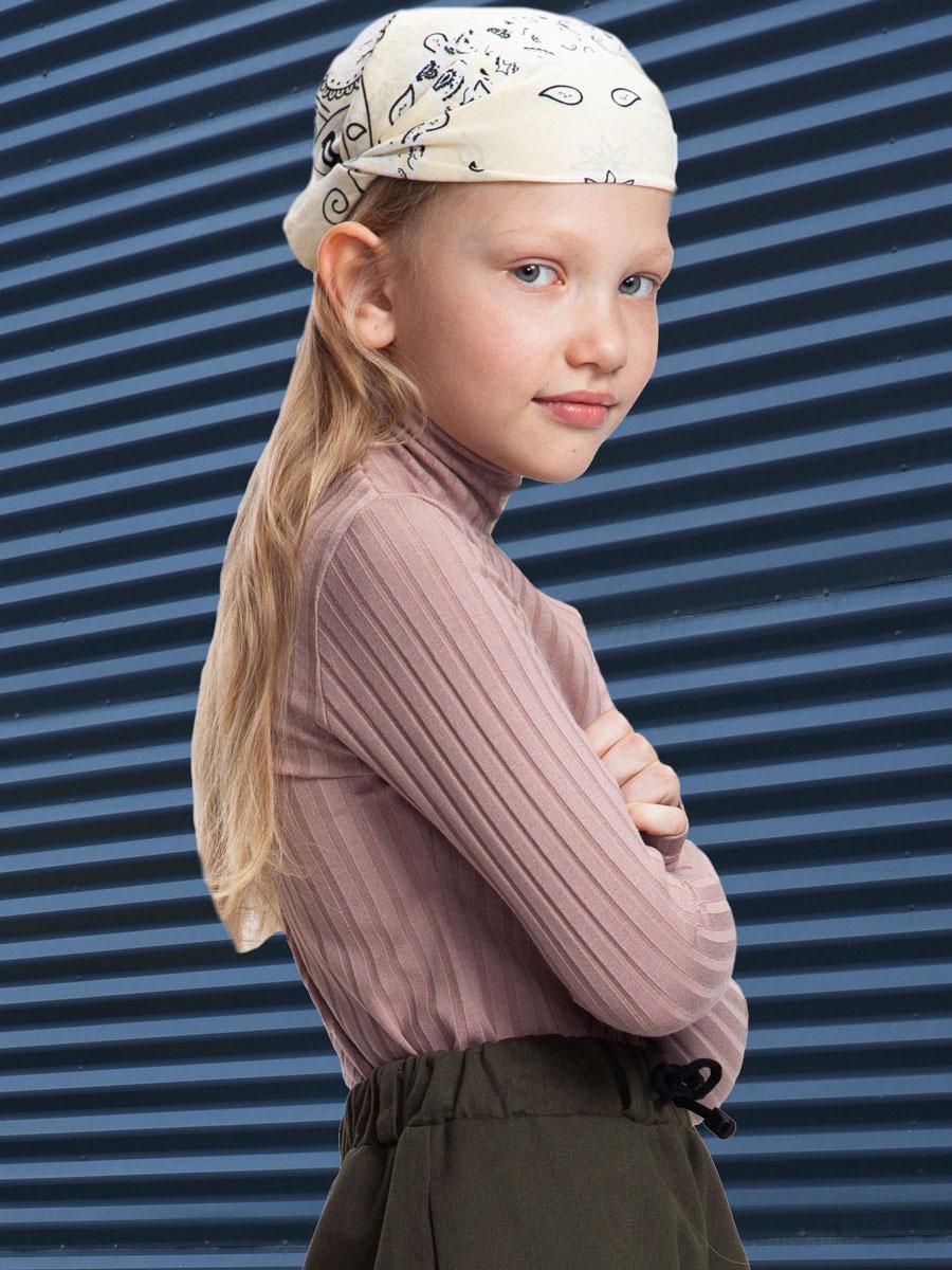 Водолазка для девочки, цвет: кэмел