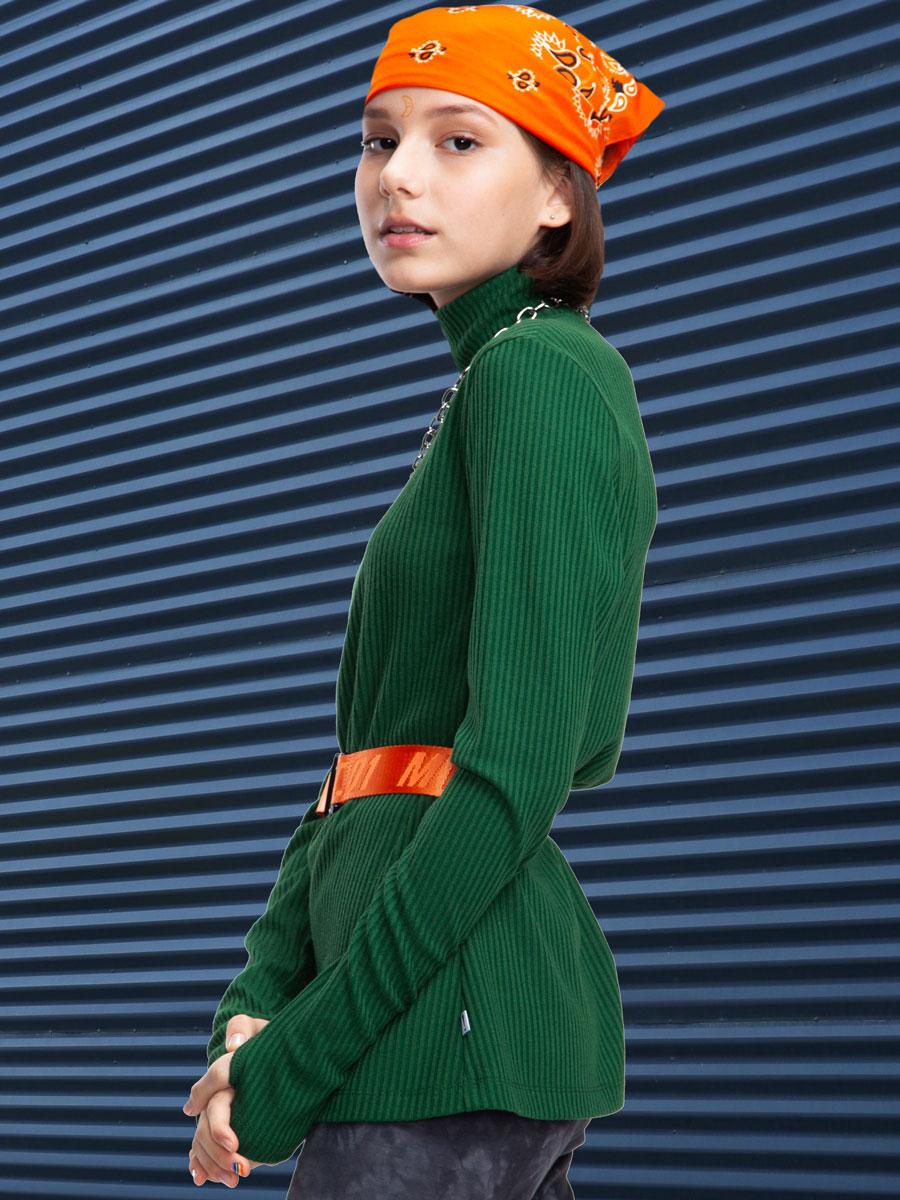 Водолазка для девочки, цвет: травяной зеленый
