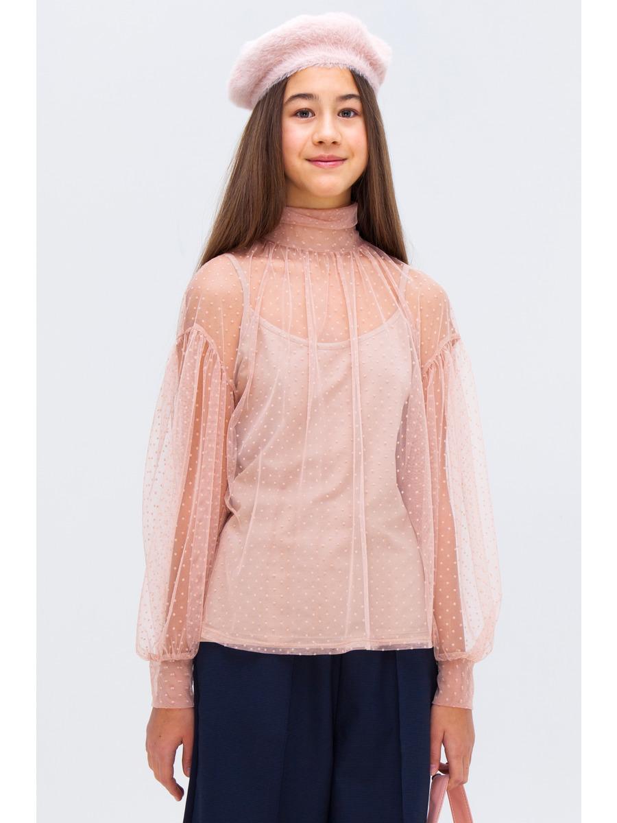 Блузка свободного силуэта, цвет: пудра