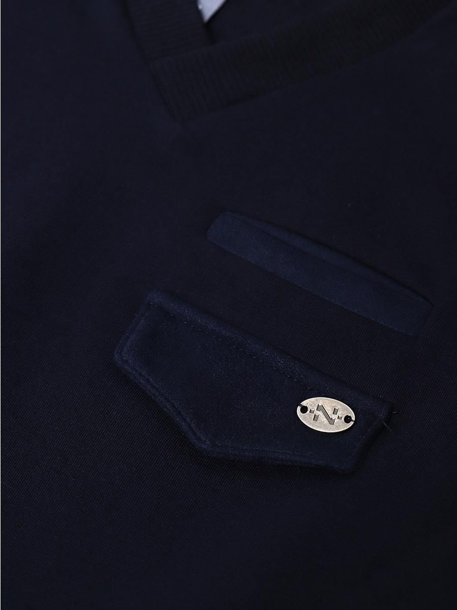 Жилет прямого силуэта для мальчика, цвет: темно-синий