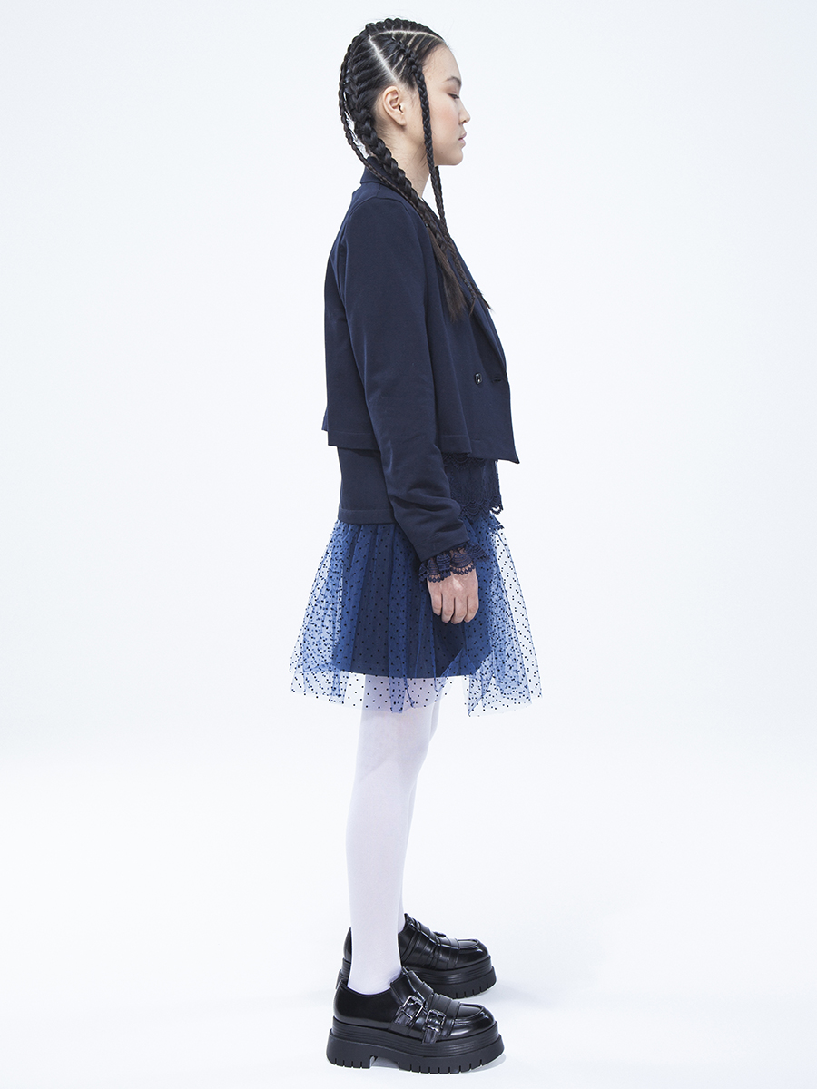 Жакет для девочки, цвет: темно-синий