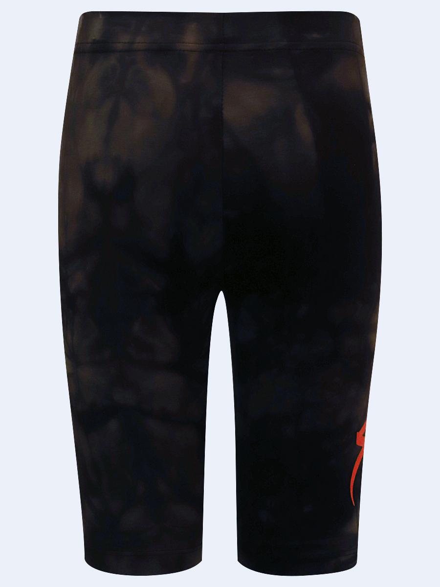 Бриджи укороченные со средней посадкой для девочки, цвет: черный