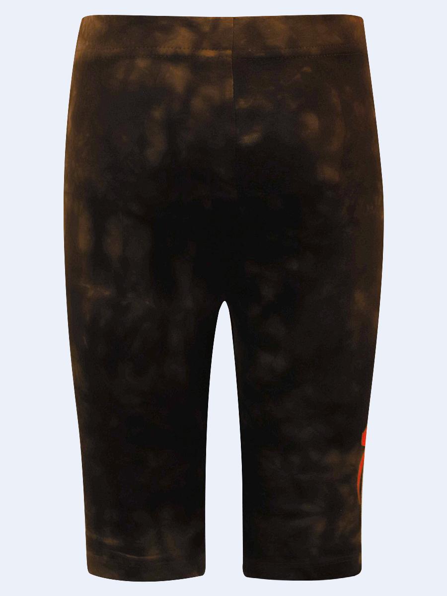 Бриджи укороченные со средней посадкой для девочки, цвет: темно-коричневый