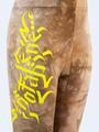 Бриджи укороченные со средней посадкой для девочки, цвет: меланж капучиновый