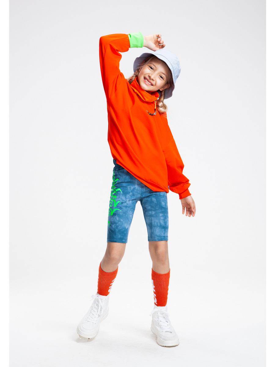 Бриджи укороченные со средней посадкой для девочки Тай-Дай, цвет: деним