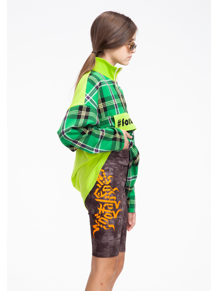 Бриджи укороченные со средней посадкой для девочки Тай-Дай, цвет: темно-коричневый