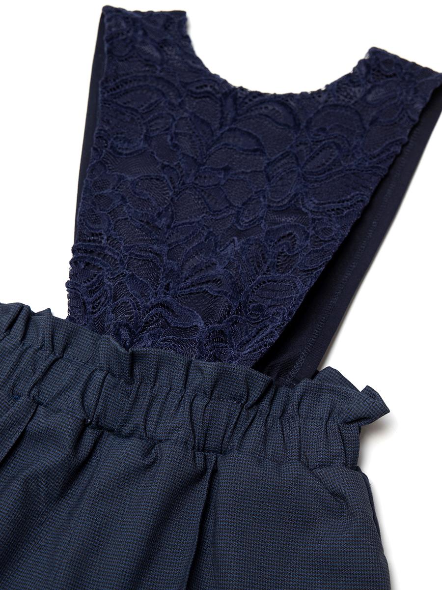 Комбинезон для девочки, цвет: темно-синий