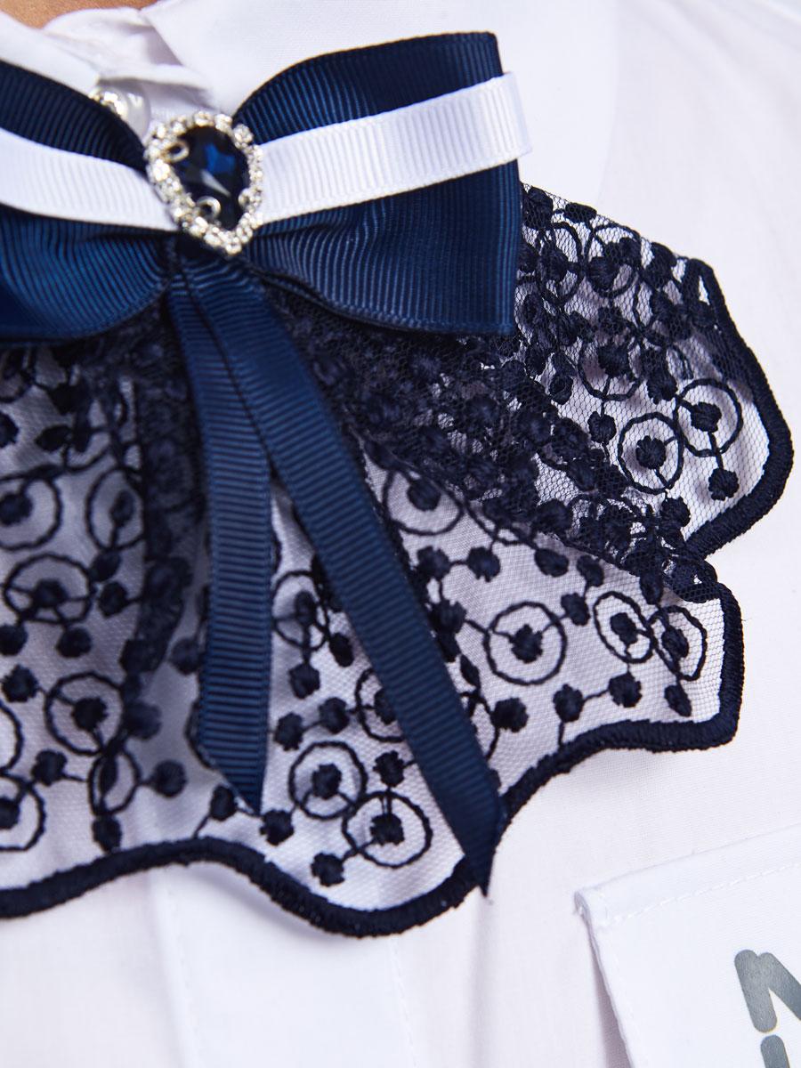 Галстук-бабочка для девочки, цвет: темно-синий