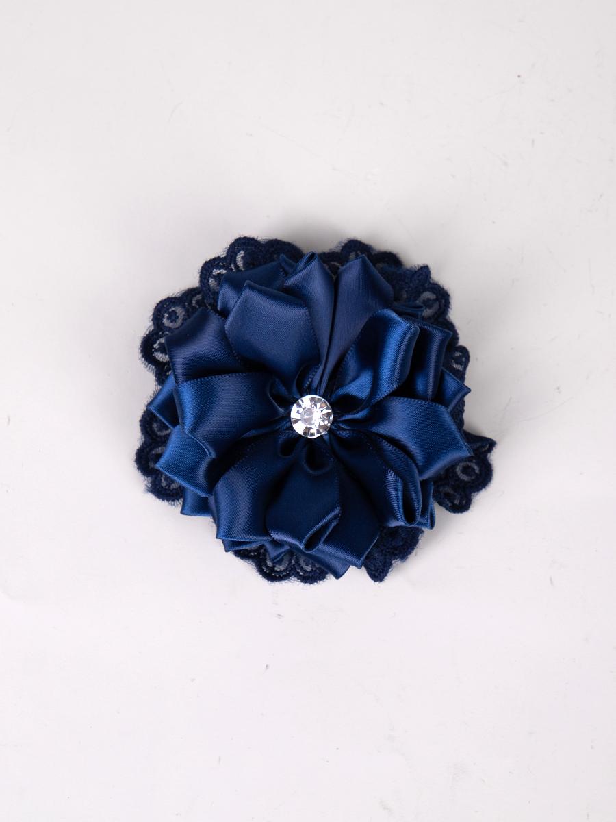 Бант-резинка 10см, цвет: темно синий