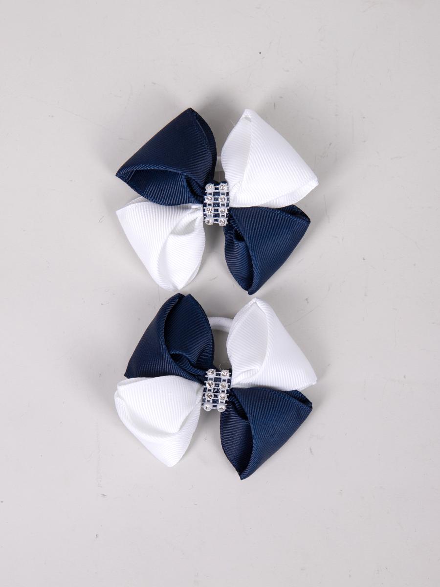 Бант-резинка, пара 7см, цвет: темно синий