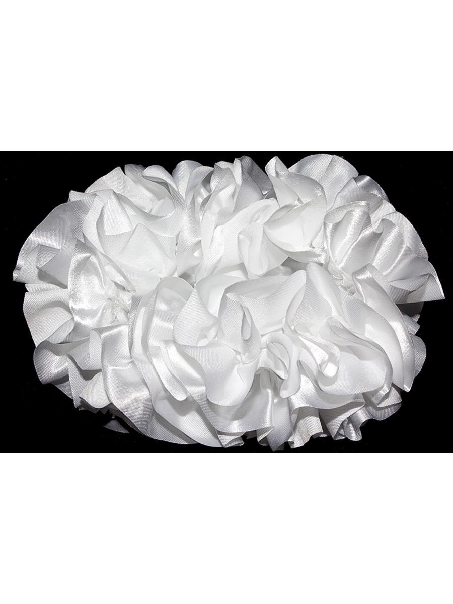 Бант-резинка 11см, цвет: белый