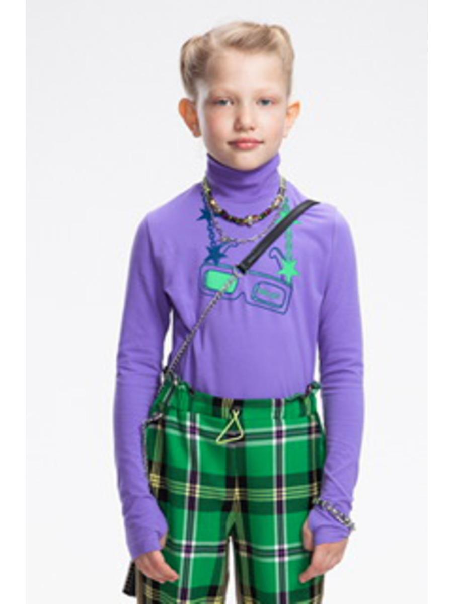 Водолазка для девочки, цвет: Леденцово-фиалковый