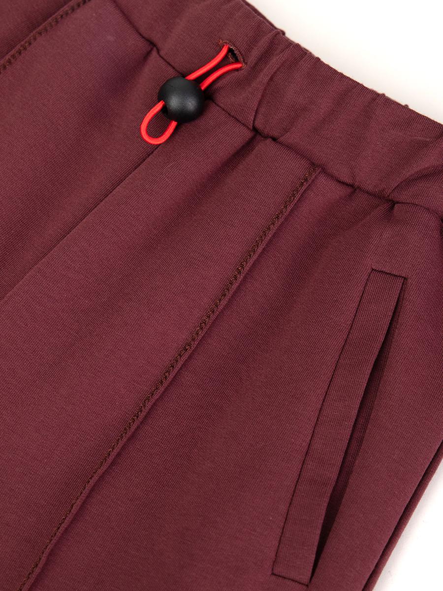 Брюки широкие с завышенной талией для девочки, цвет: темно-каштановый
